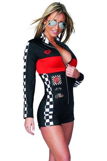Women Racing Costume Car Driver Nascar Racer F1 For Halloween Costume