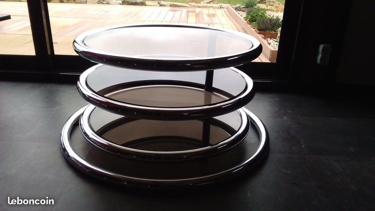Table Basse Vintage 3 Plateaux Orientables Ameublement Cote D Or Leboncoin Fr With Images Tiered Cakes Tiered Cake Stand Cake Stand