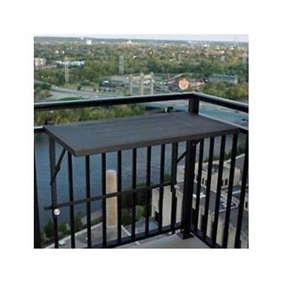 Deck Rail Mount Grill Shelf Bbq Barbecue Grilling Patio Apartment Balcony Rack