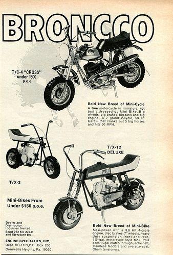 1969 Bronco Mini-Bike Advertising Hot Rod Magazine November 1969 ...