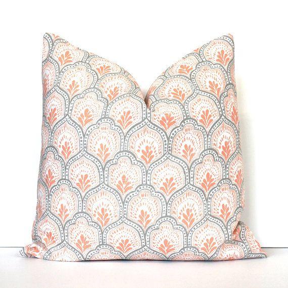 Apricot And White Decorative Designer Pillow Cover Accent