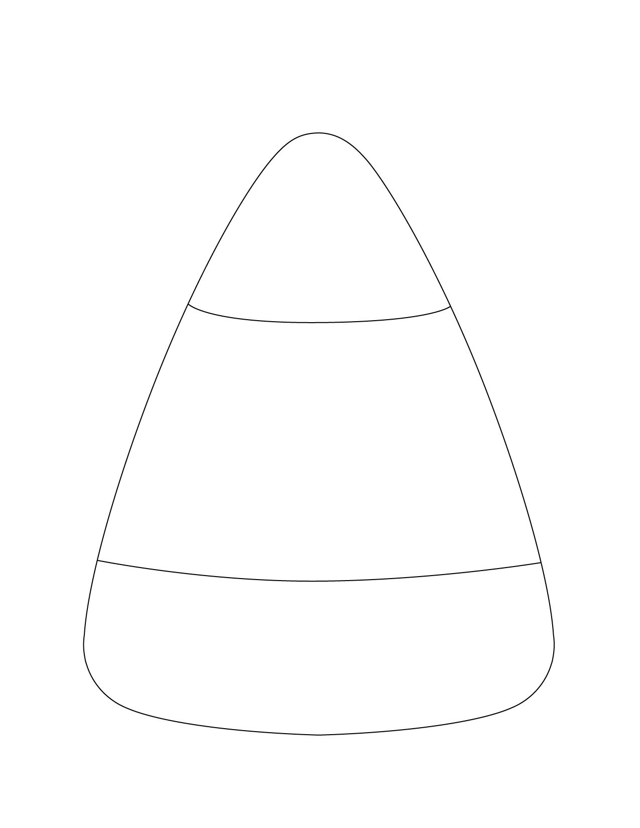 Candy Corn Template Printable In 2020 Pictures Of Candy Corn Candy Coloring Pages Candy Corn