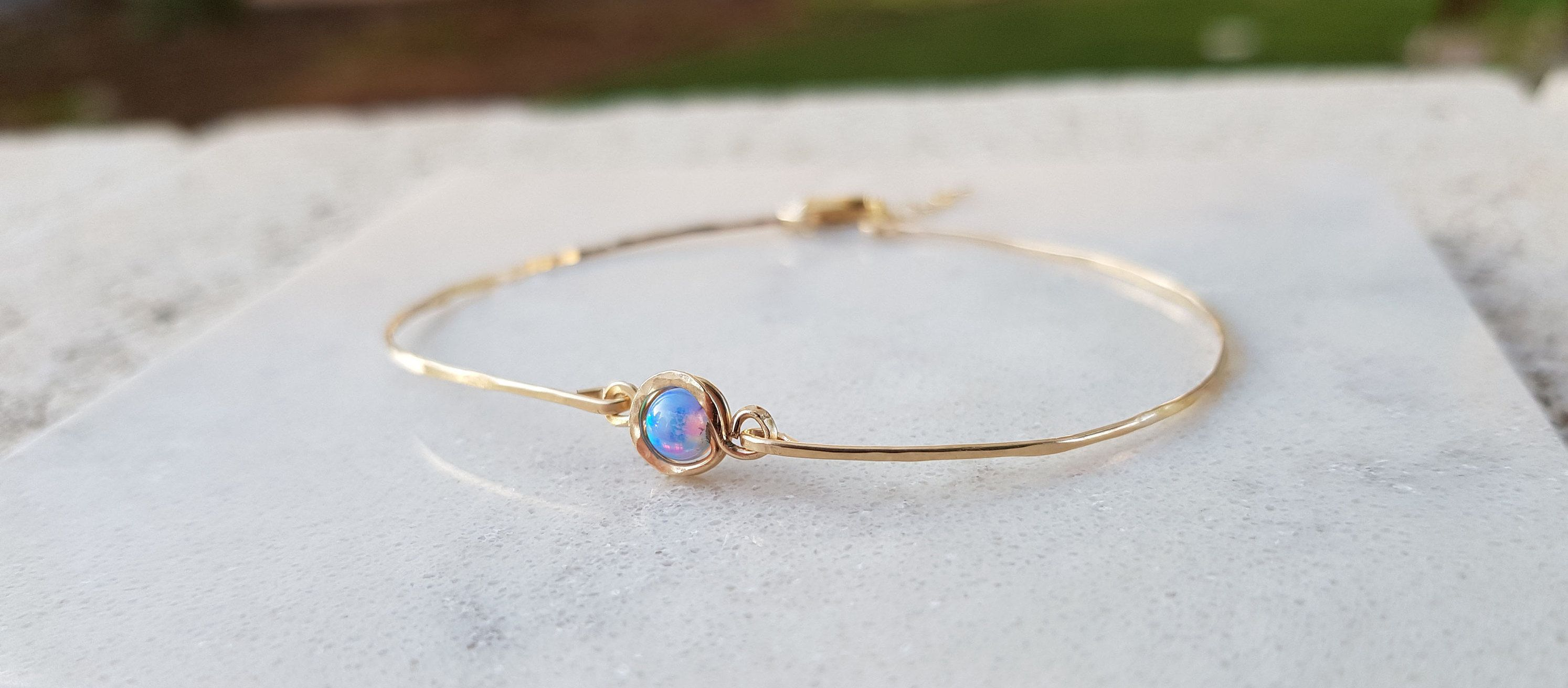 opal gold bracelet part real plated brac striking