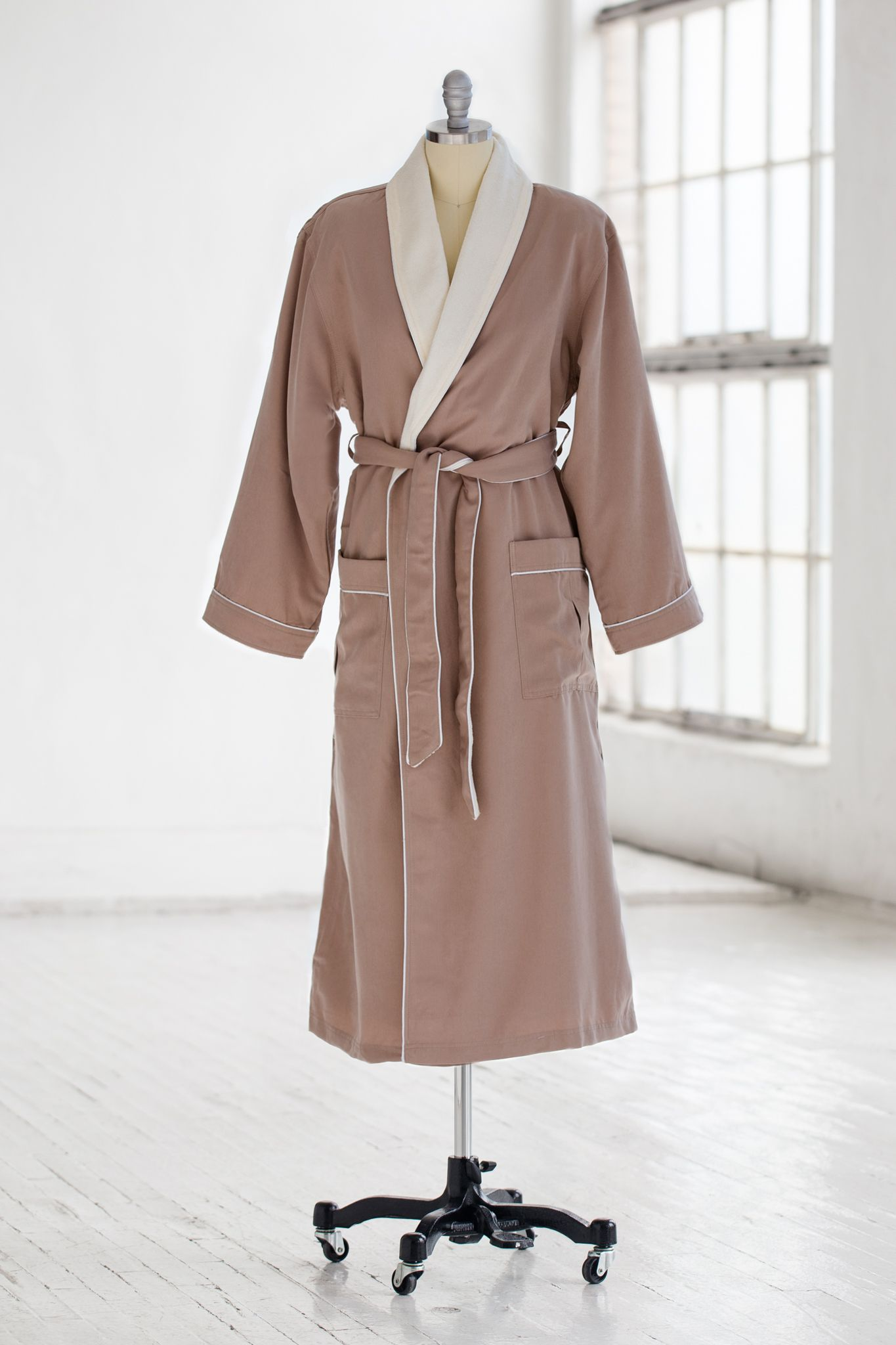 Classic Spa Robe - Terry Cloth   Microfiber - Sedona Creme  2a47e9614
