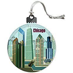 chicago christmas ornament hancock building willis tower cloud gate bean holiday ornament - Chicago Christmas Ornaments