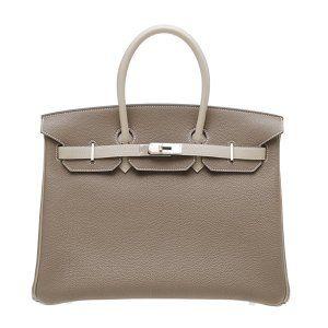 c6982ae055dd Hermes Birkin bag 35 Bi-color Taupe grey Mouse grey Togo leather Silver  hardware
