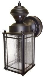 $35 Heath Zenith SL-4133-OR Signature Collection, Motion Activated Coach Light, Oil Rubbed Bronze