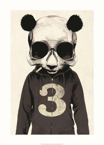 Art Print: Panda No.3 by Hidden Moves : 28x20in