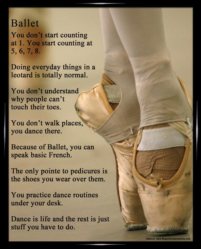 Ballet Shoes Dancer 8x10 Sport Poster Print Dance quotes