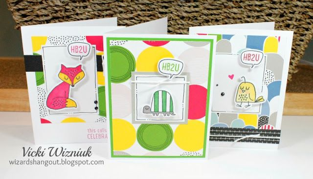Set of CTMH Some Kinda Wonderful cards.  by Vicki Wizniuk