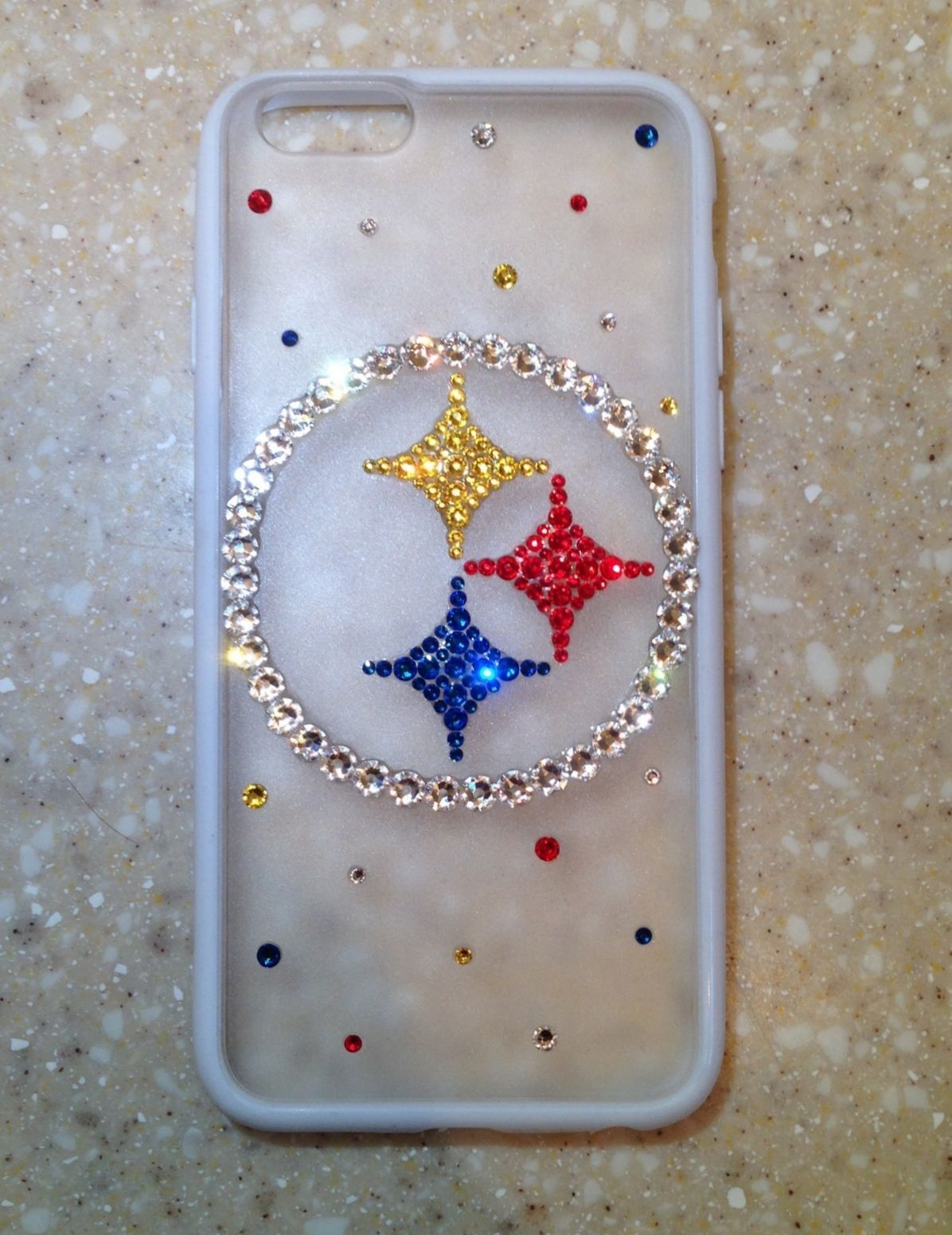 b710612c2 Steelers Case iPhone 6 6 Plus S4 S5 Note 3 Note 4 Made with Swarovski  Crystals | eBay