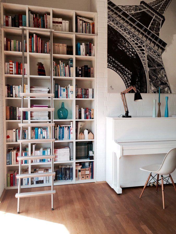 platzsparende einrichtung ideen regalsysteme buchsammlung, im obergeschoss in 2018   skandinavische wohnräume   pinterest, Design ideen