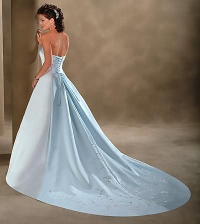 Your Something Blue Can Now Be Your Wedding Dress – Blue Wedding ...