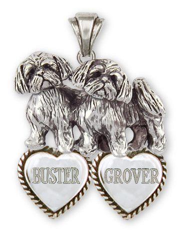 Shih Tzu Personalized Pendant Handmade Silver Shih Tzu Jewelry Sz24