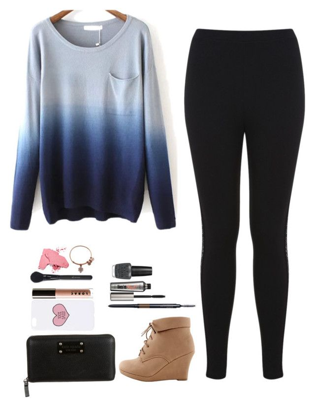 """""""Too Sassy!"""" by annie-cheers ❤ liked on Polyvore featuring Miss Selfridge, Topshop, Kate Spade, LORAC, Smashbox, Benefit, OPI and Alex and Ani"""
