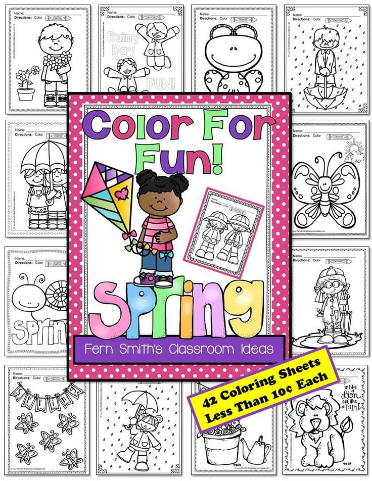 Spring Coloring Pages Spring, Free coloring and School