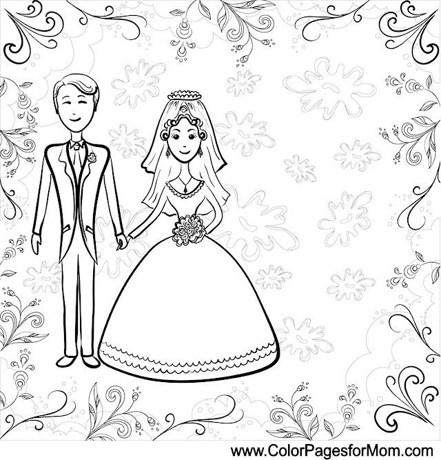Wedding Coloring Page 3 Coloring 7 Wedding Coloring
