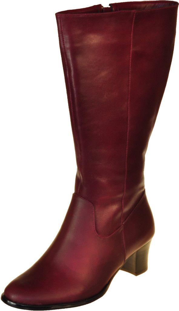 Java Burgundy - Wide Calf Boots | Boots
