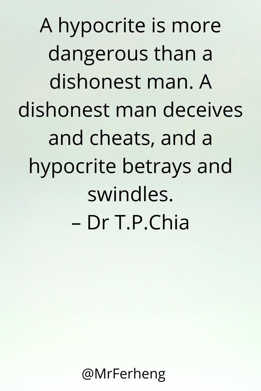 Be aware of Hypocrites