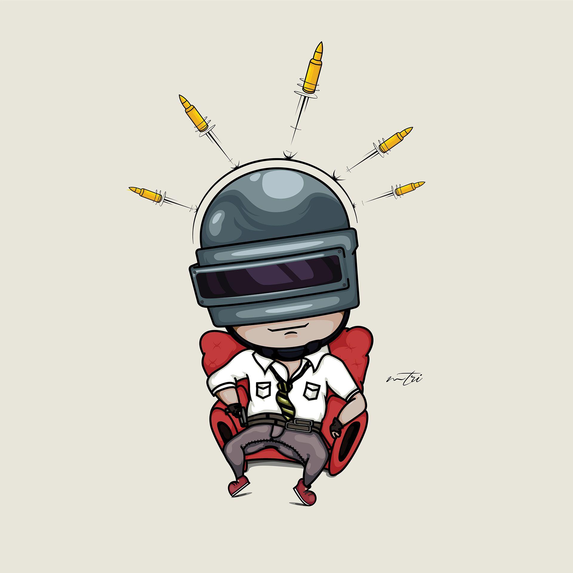 P U B G Chibi Style By Me On Behance Di 2020 Logo Keren Kartun Animasi