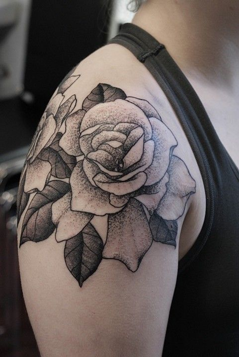 Gardenias Gardenia Tattoo Rose Shoulder Tattoo