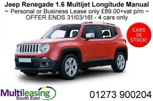 Jeep Renegade 1 6 Multijet Longitude Manual Solid Red Rear Park