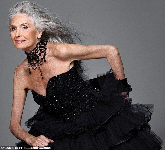 Daphne at 83. She has modelled for Vogue, Dolce & Gabbana and Marie Claire and has been all over the world