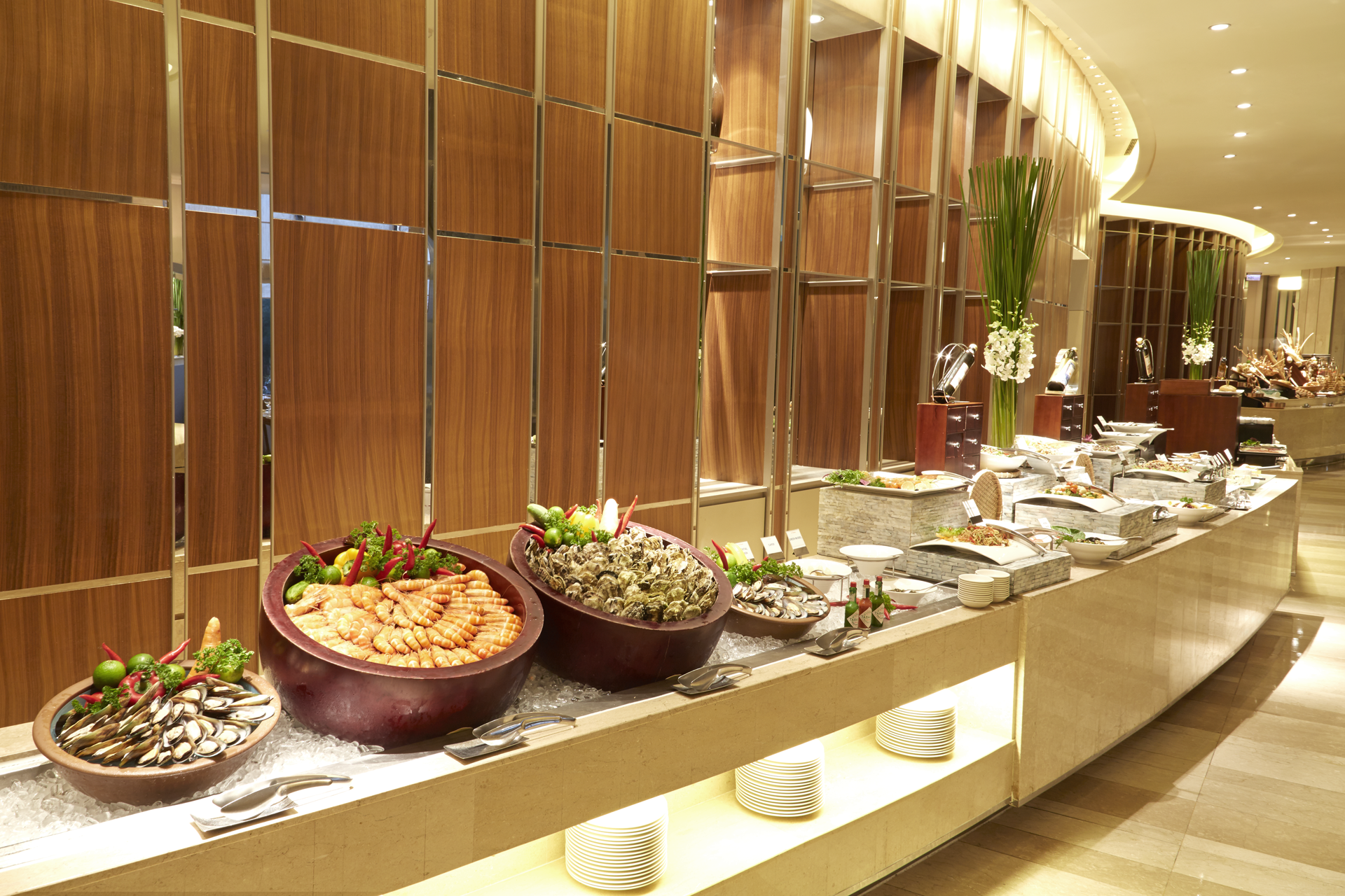 Gorgeous buffet counter at La Brasserie restaurant ...