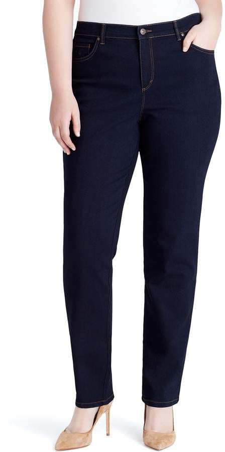 994311ffd87b7 Gloria Vanderbilt Plus Size Amanda Embellished High-Waisted Tapered Jeans