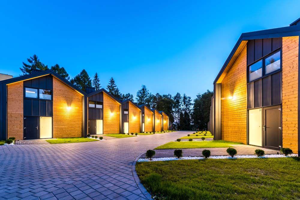Dodatkowe Nowoczesne domki nad jeziorem blisko lasu w Mikołajkach na NV35