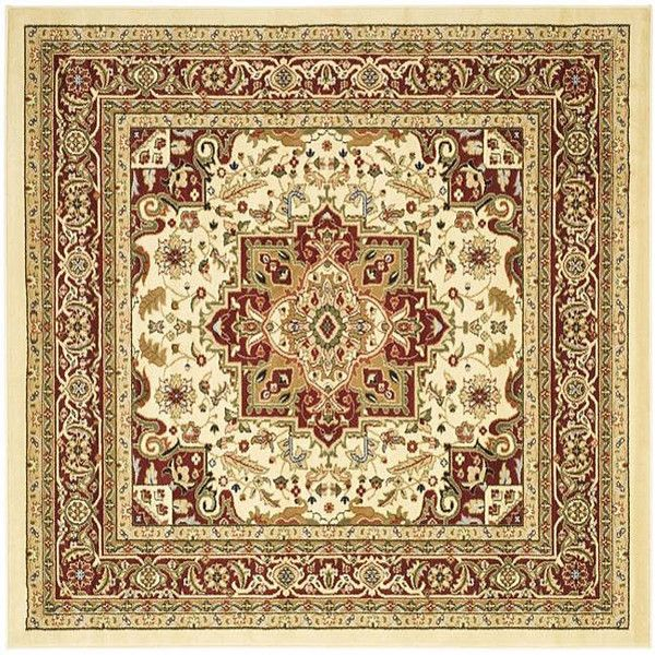 Safavieh Lyndhurst Collection Ivory Red Oriental Style Rug Oriental Style Rugs Square Area Rugs Oriental Area Rugs