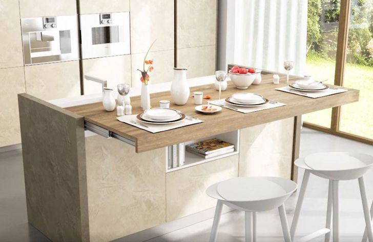 Incredible Hidden Pull Out Table Broyhill Kitchen Island With Of