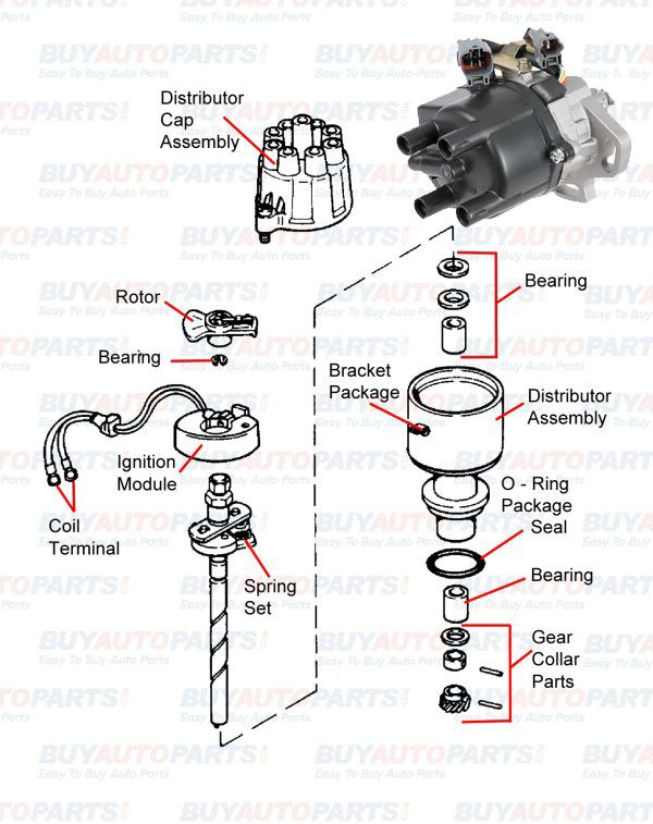 basic car parts diagram components of automobile exhaust system the ignition distributor is a crucial electrical component in any car engine the distributor carries