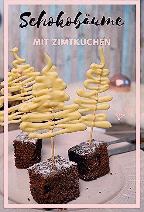 Photo of Köstlicher Zimtkuchen und dekorative Schokoladenbäume – Pretty You