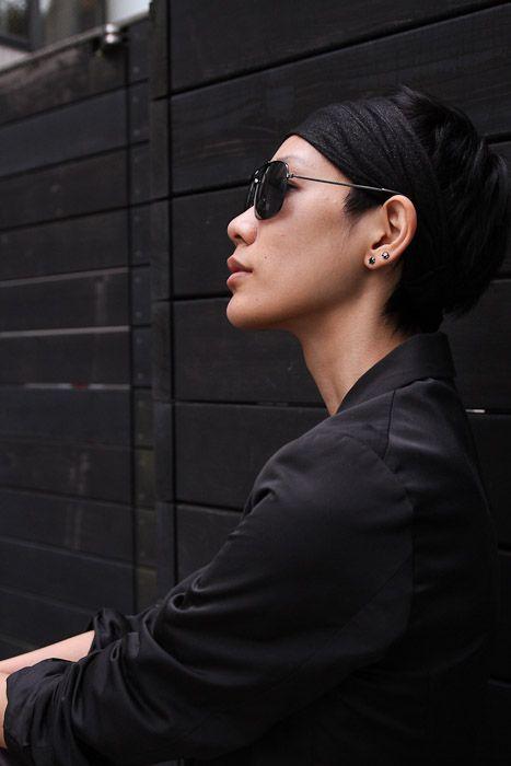 saito ayumi. androgynous, monochromatic asian sistas. get it. #tokyo #harajuku #streestyle