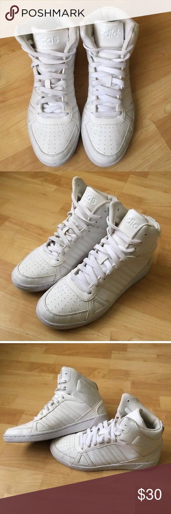 Adidas Neo Cloudfoam White Scarpe Da Donna 9 Adidas, Priva Di Fumo