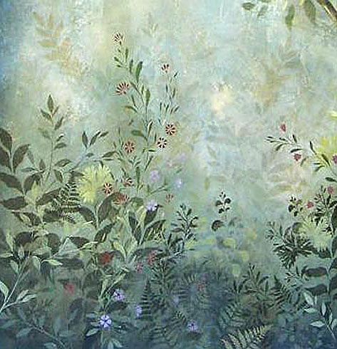 Wall Mural Stencils woodland plants stencil see more fresco and mural stencils: http
