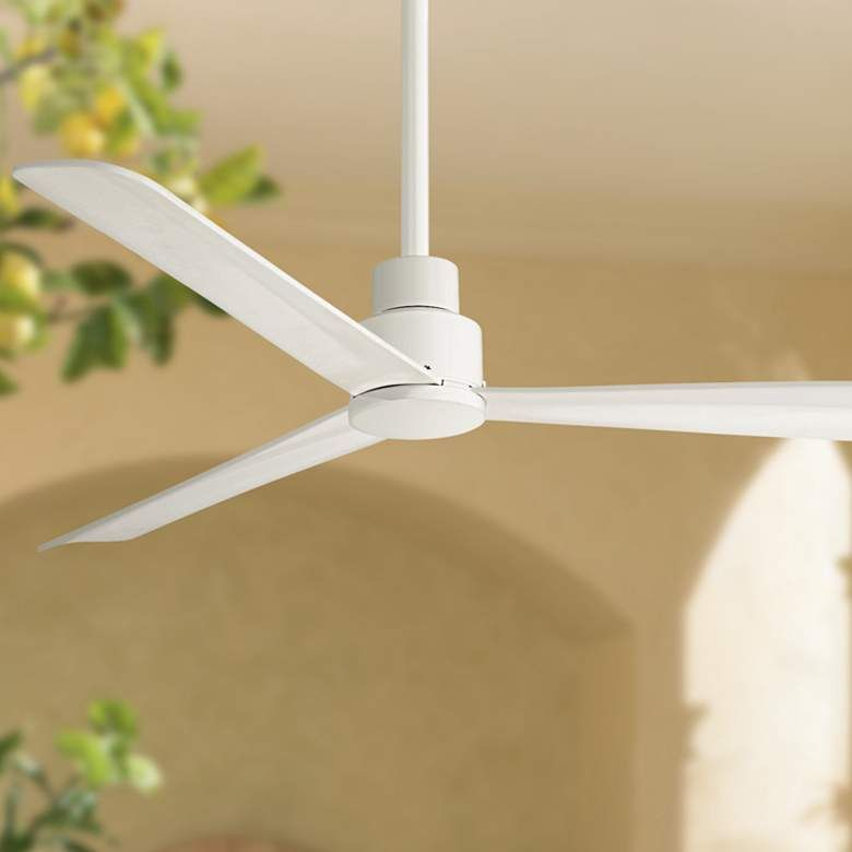 52 Minka Aire Simple White Outdoor Ceiling Fan 9g066 Lamps Plus In 2020 Ceiling Fan Outdoor Ceiling Fans Ceiling Fan Makeover