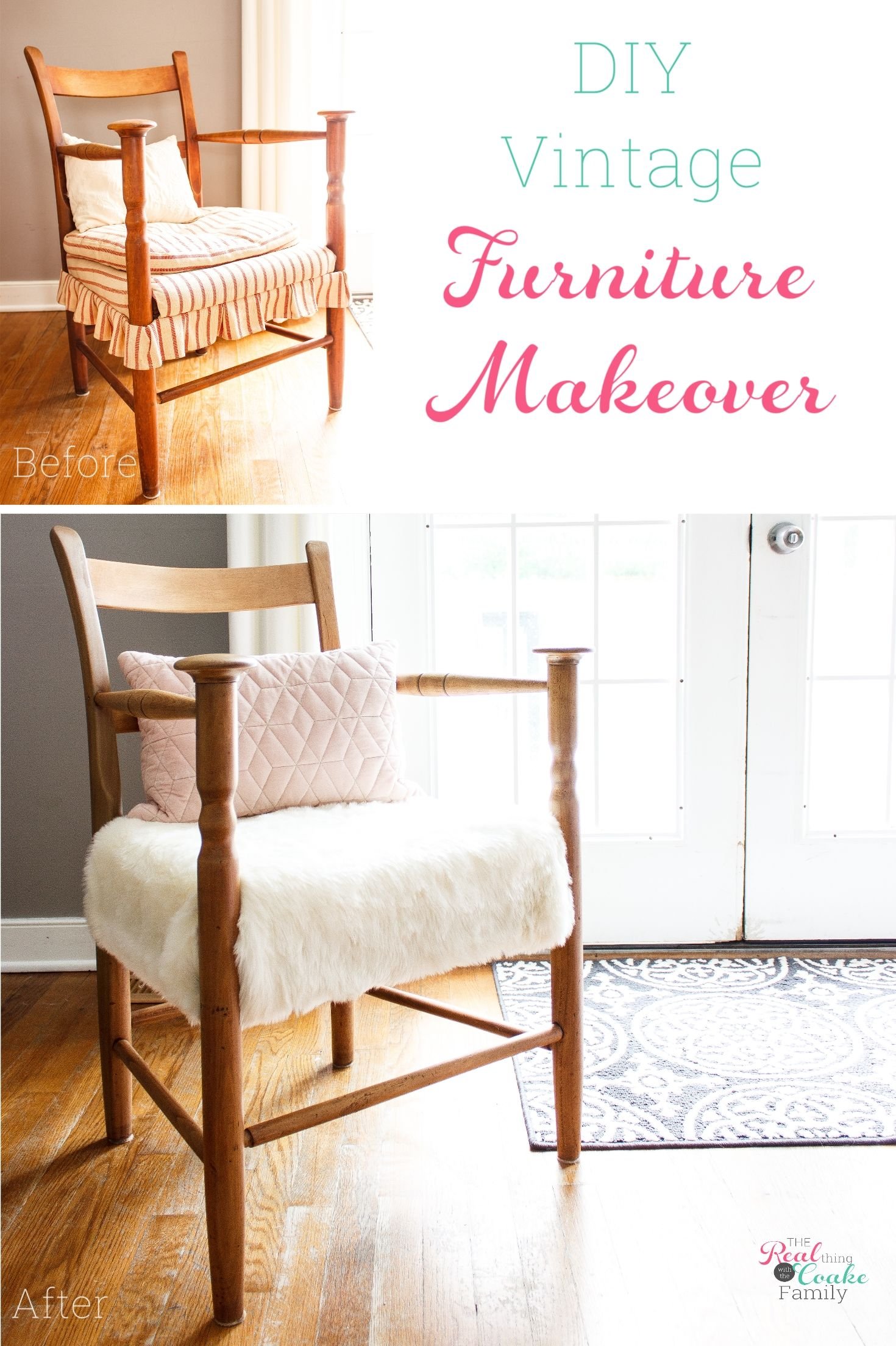 How to Refinish Furniture  DIY Chair Makeover is part of Diy chair - Learn how to refinish furniture with this step by step tutorial