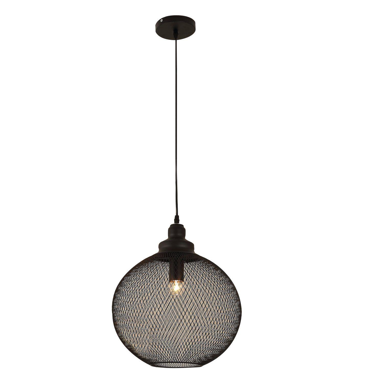 Homcom Steel Mesh Pendant Light Industrial Retro Globe Hanging Lightfixtures Lighting Decor Simple Lighting Pendant Light Kit Chandelier Ceiling Lights