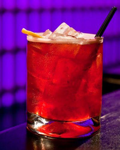 AMALTA MORA From: LAVO Italian Restaurant  Ingredients:  • 2 parts Bulleit bourbon • 1 part sour mix • 1 part simple syrup • 1 dash specialty bitters • Blackberries