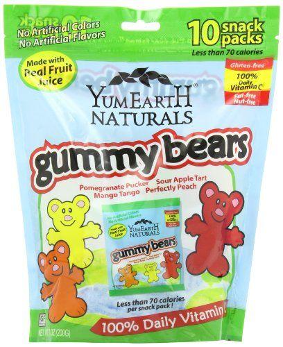 BESTSELLER! YumEarth Natural Gummy Bears, 10 Snac... $4.89