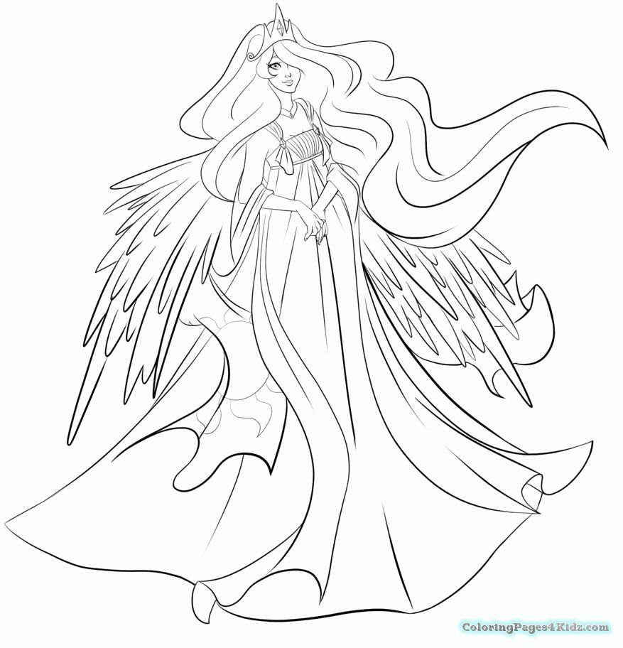 Princess Celestia Coloring Page Beautiful Princess Luna Coloring Pages At Getcolorings Coloring Pages My Little Pony Movie My Little Pony Baby