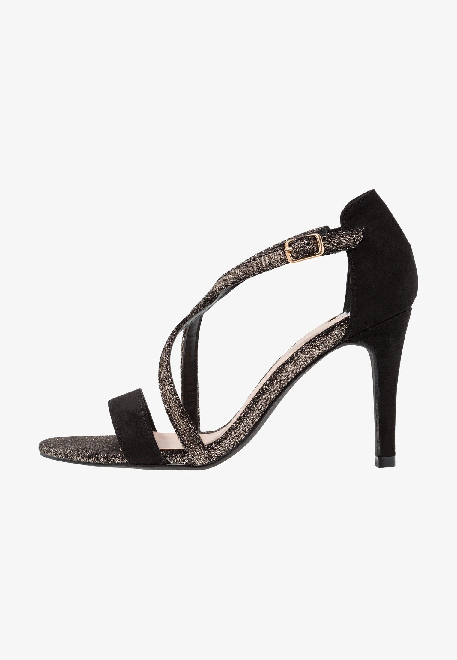 scarpe di separazione cf7b2 19336 WIDE FIT BESTIE - Sandali con tacco - pewter/black @ Zalando ...