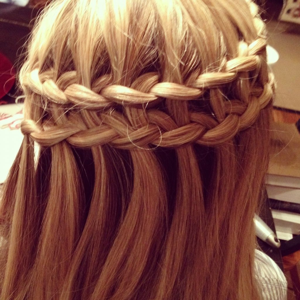 Double waterfall braid hair tips ideas pinterest waterfall