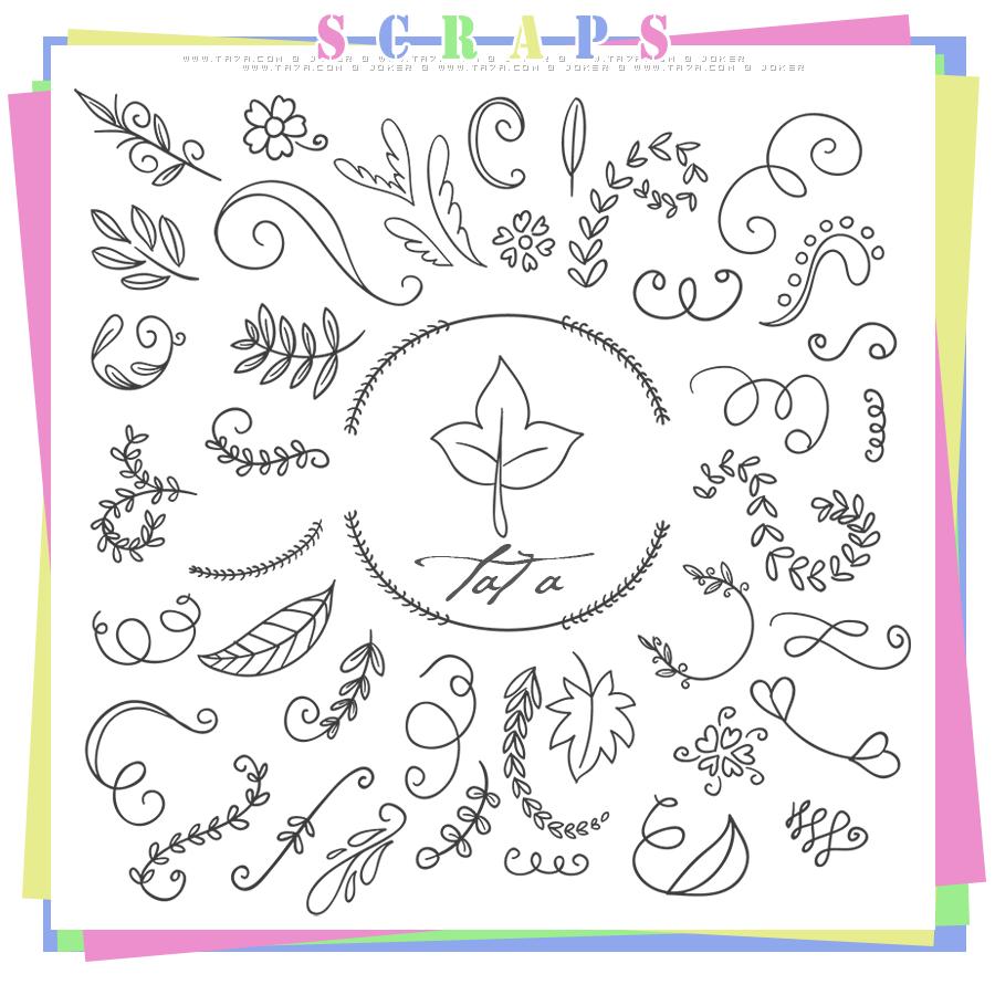 سكرابز سكرابز للتصميم سكرابز زخارف زخارف جديدة Scraps 2015 منتديات التحليه Bullet Journal Doodles Doddle Art Floral Doodle