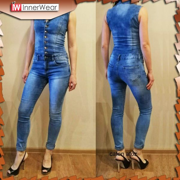 b2f860bab82 Women Jumpsuit Denim Overalls Shirt Rompers Girls Pants Jeans S-XL  Bodysuit................................... Price    51.44