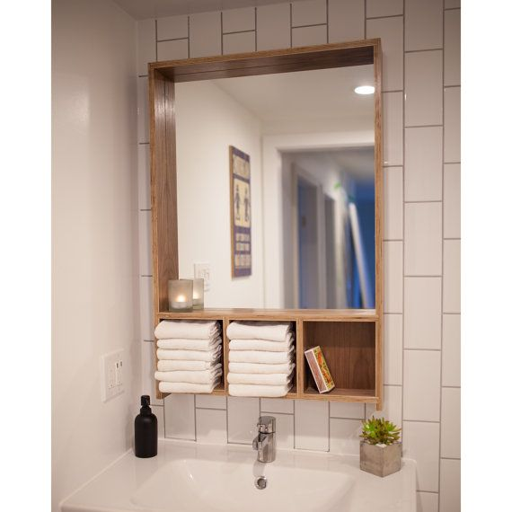 Levi Mirror Modern Walnut Bathroom Vanity By Cariboowoodworks