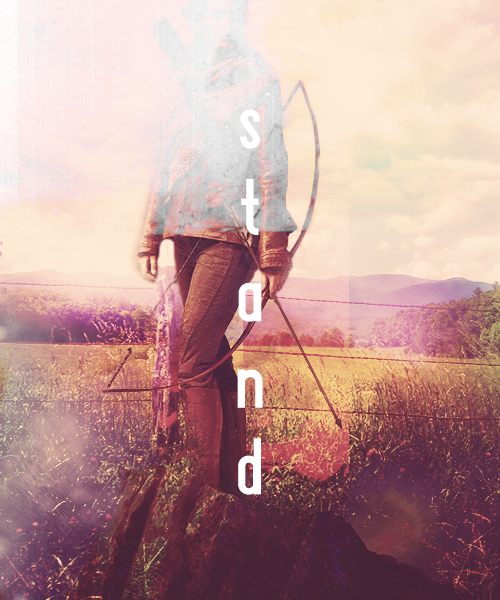 I make myself stand. Hunger games