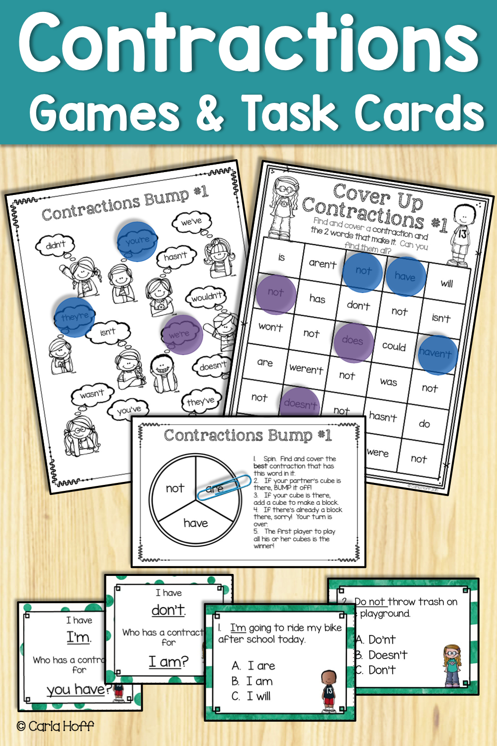 small resolution of Contractions   Games \u0026 Task Cards   Contractions task cards